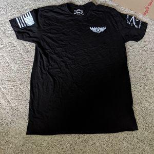 Men's Grunt Style Black Short Sleeve Shirt Size L